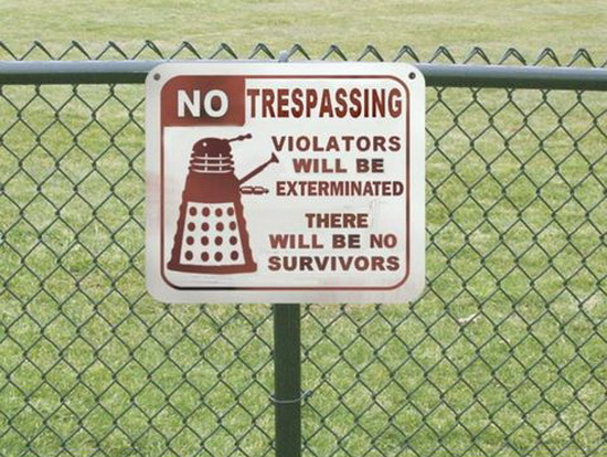 funny signs, Doctor Who, Dalek