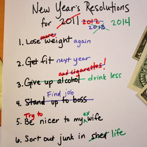 funny pics, new year resolutions