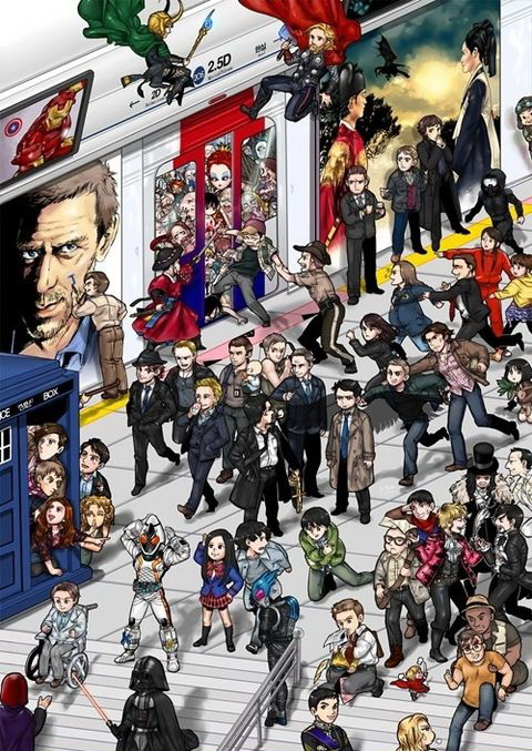 superheroes, doctor who, supernatural, sherlock, star wars