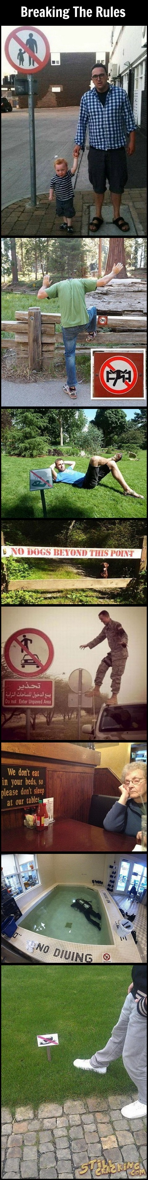funny pics, breaking the rules