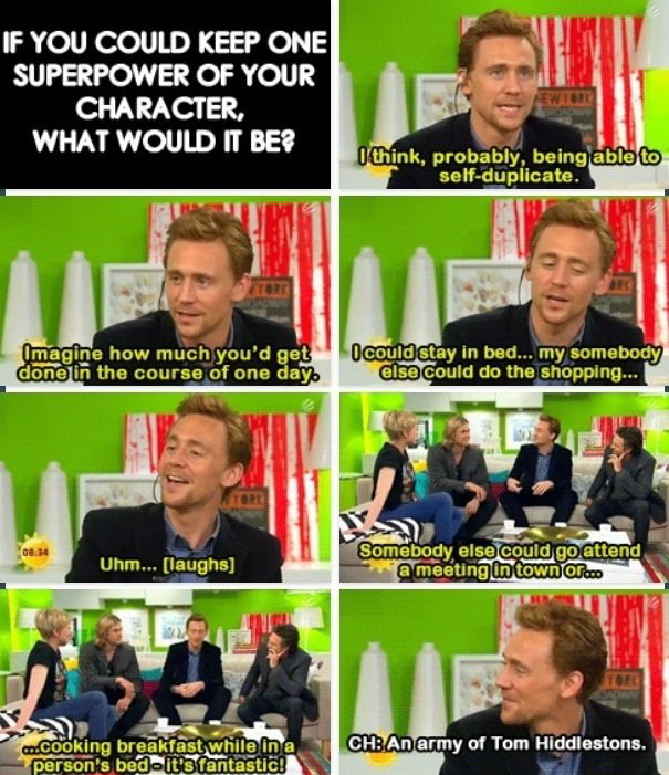 Tom Hiddleston, funny pics