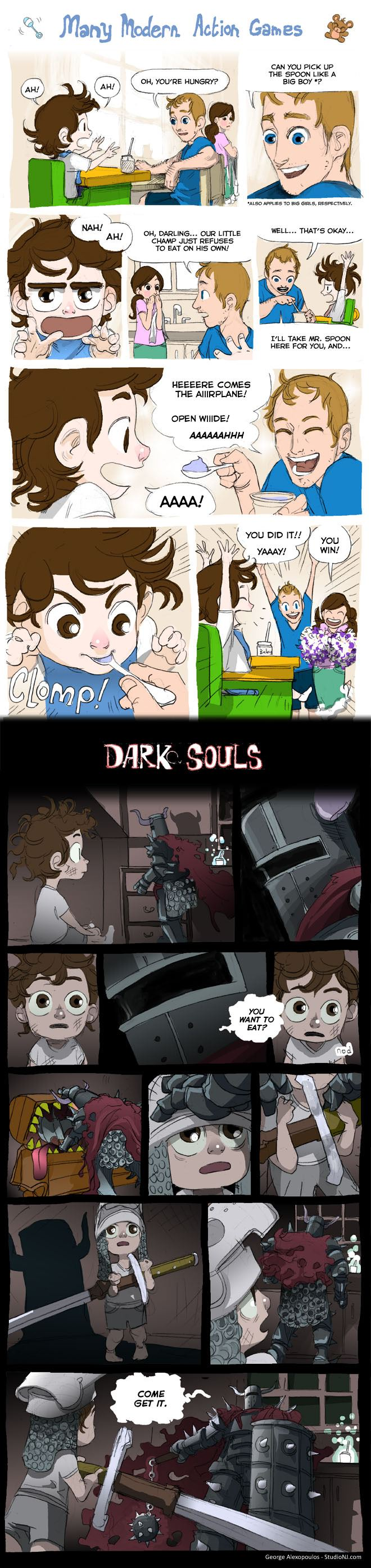 Regular Games vs. Dark Souls