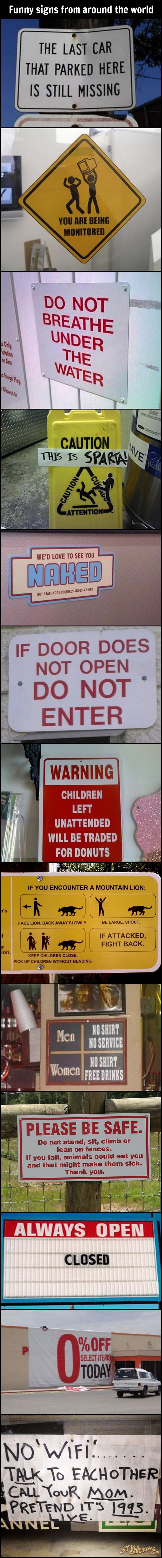 funny pics, funny signs