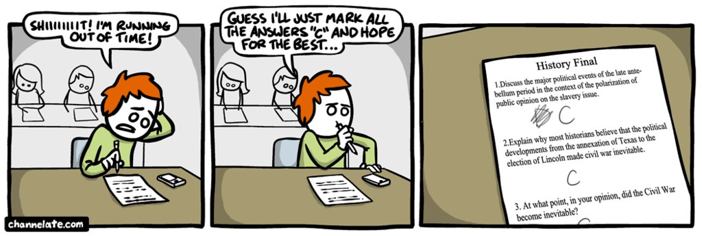 funny comics, funny test answers