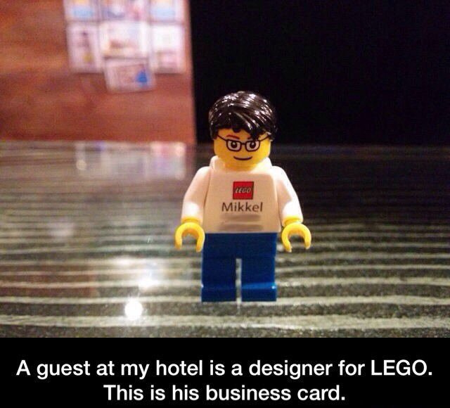 lego, funny business card