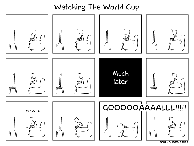 world cup humor, soccer, funny comics