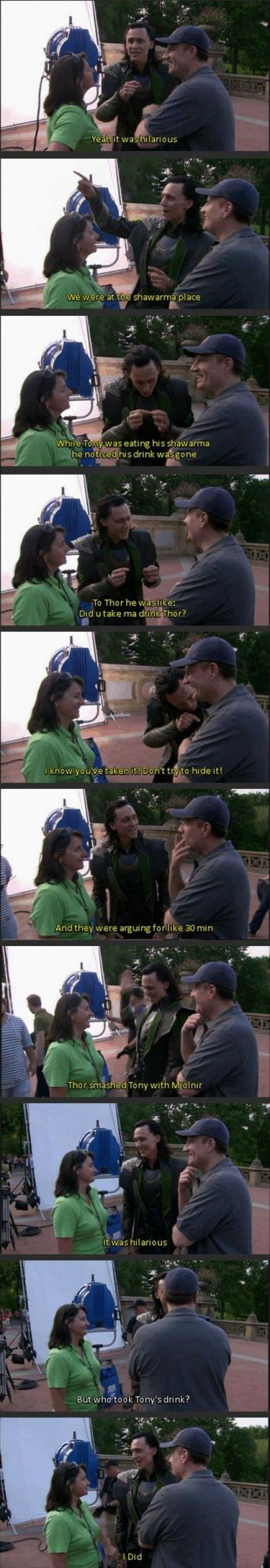 Loki, Avengers humor, Tom Hiddleston,