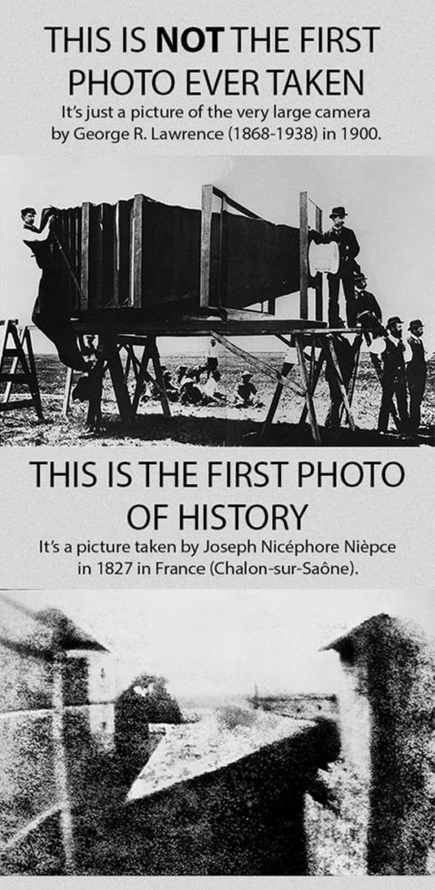 interesting facts, first photo