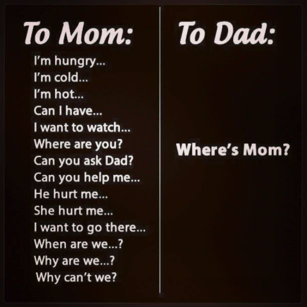 funny pics, mom vs dad