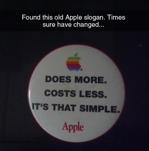 Apple slogan, funny