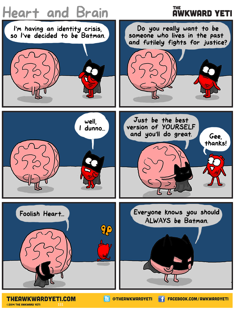 funny comics, awkward yeti, batman jokes