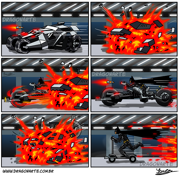batman humor, batman, batmobile