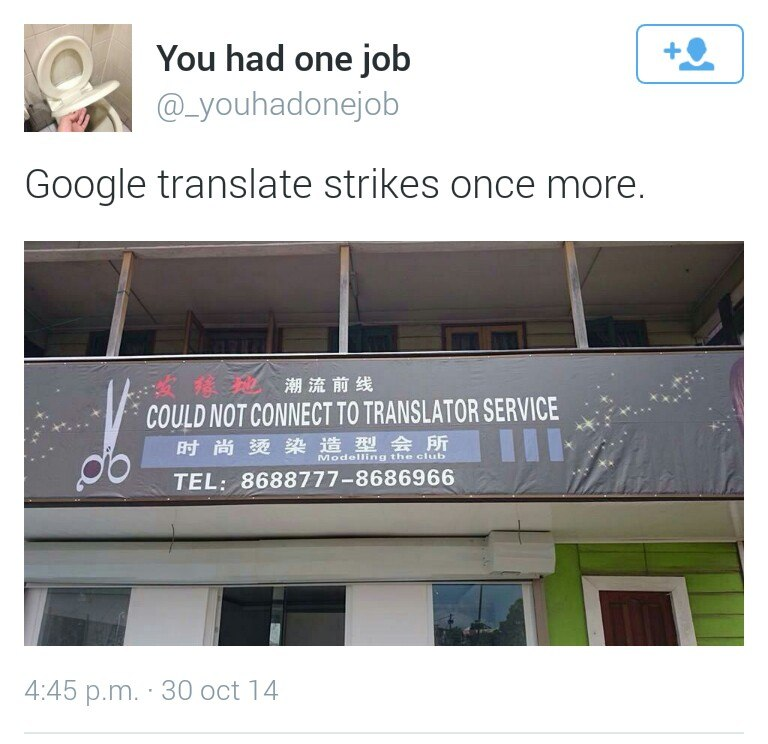 You Had One Job, funny pics, lol pics, funny google translate,