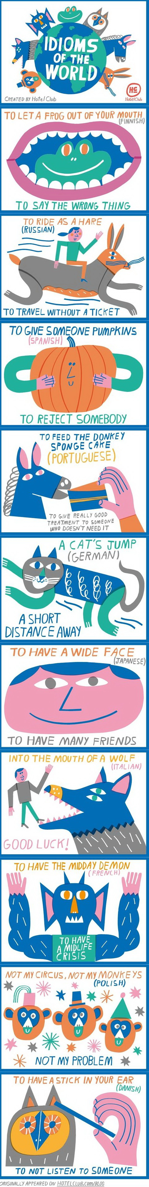 funny pics, idioms of the world