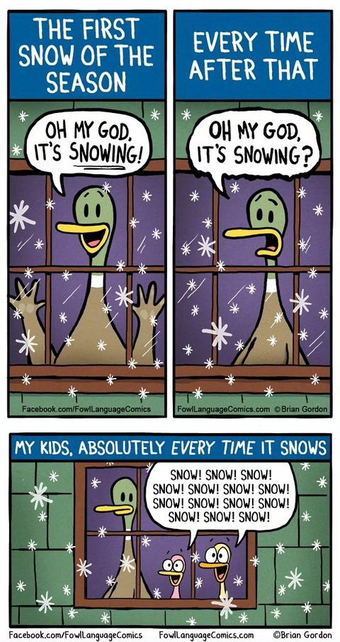 funny comics, lol pics, first snow