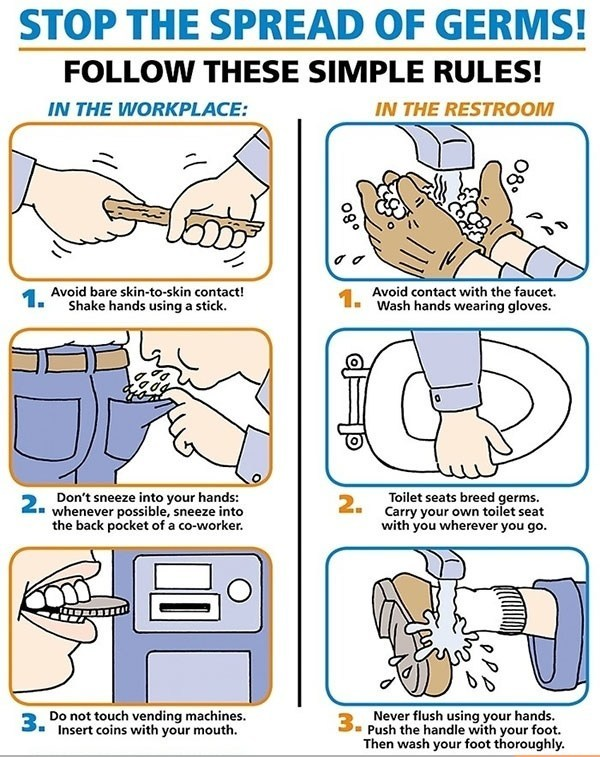 how to stop germs