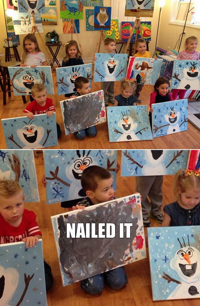 lol pics, funny kids, funny paintings