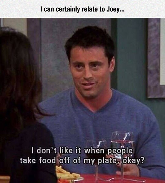 friends tv show, friends comedy, Joey Doesn't Share Food