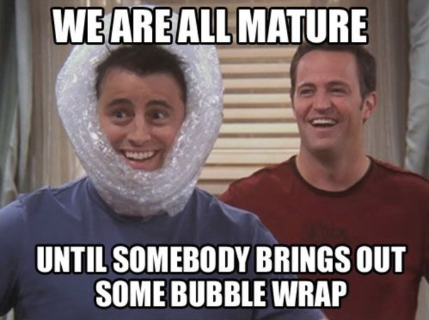 funny pics, lol pics, bubble wrap, friendstvshow