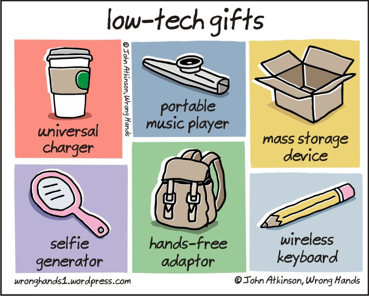low-tech gifts, funny pics