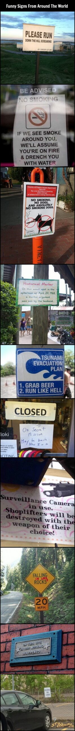 funny signs, lol