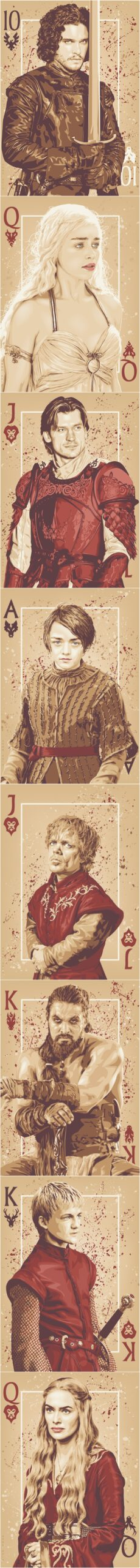 """Cards """"Game Of Thrones"""", game of thrones art, GOT,"""