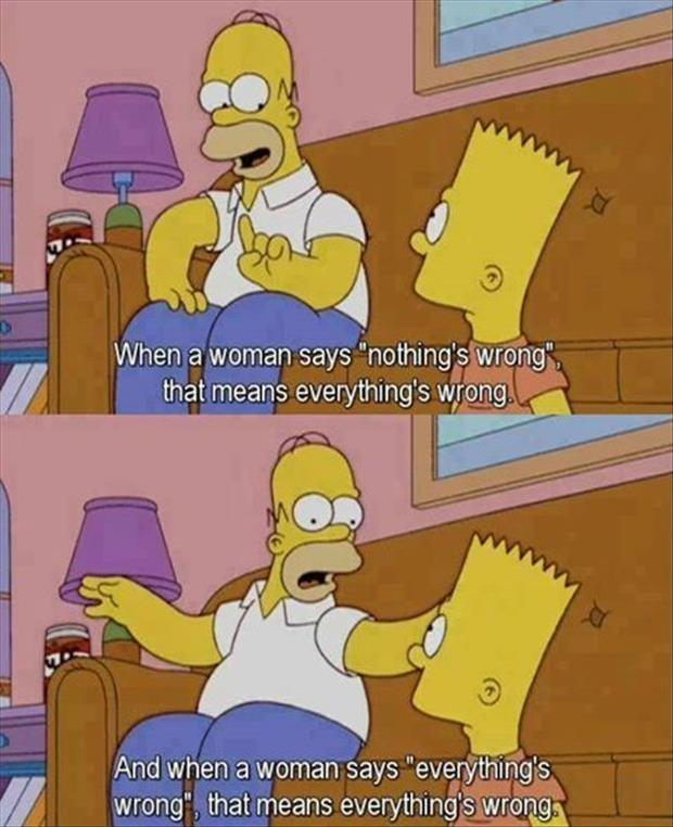 women humor, simpsons, lol