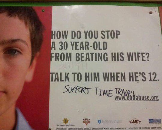 funny signs, lol, time travel humor