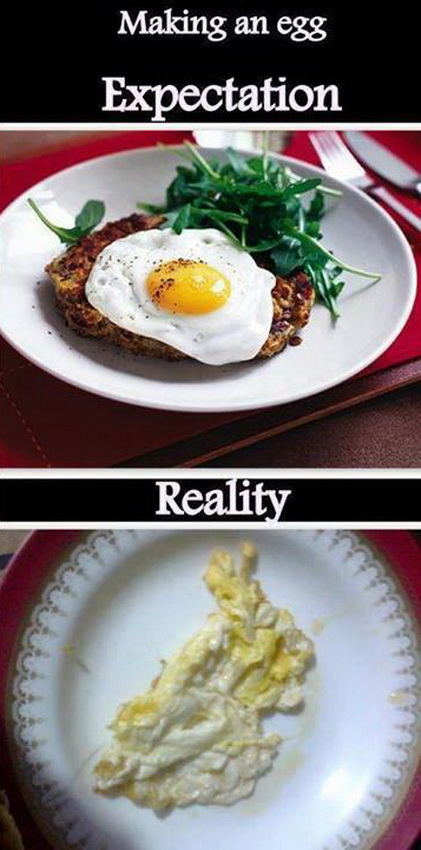 funny pics, food humor, Expectation VS Reality,