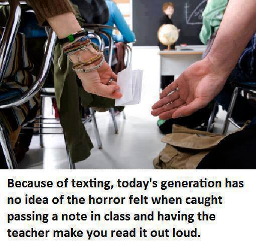 texting before, old times