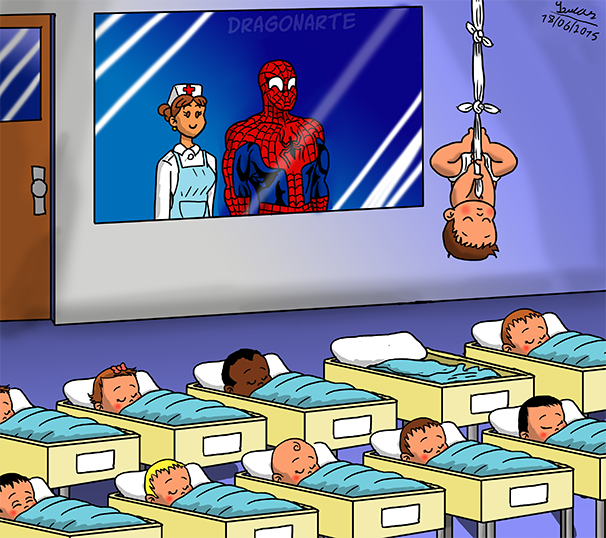 spider baby, spiderman humor, lol pics