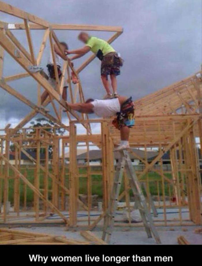 funny pics, lol pics, why women live longer than men, men vs women
