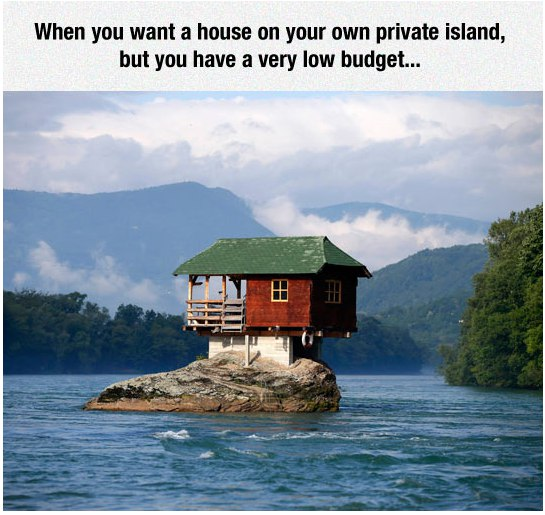funny pics, low budget house, lol