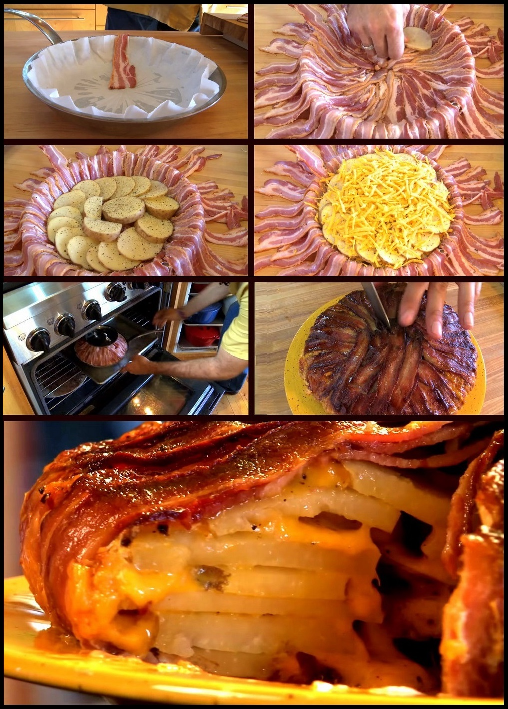 food, tasty, bacon, yummy, Potato Bacon Cheddar Tart, Chef Michael Smith