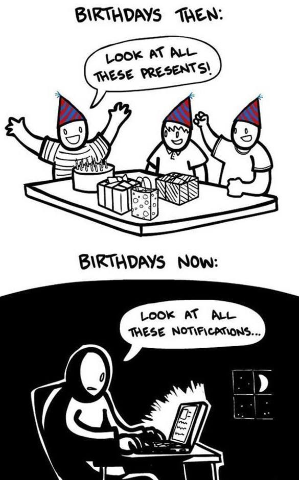 then and now, funny pics, birthdays celebration
