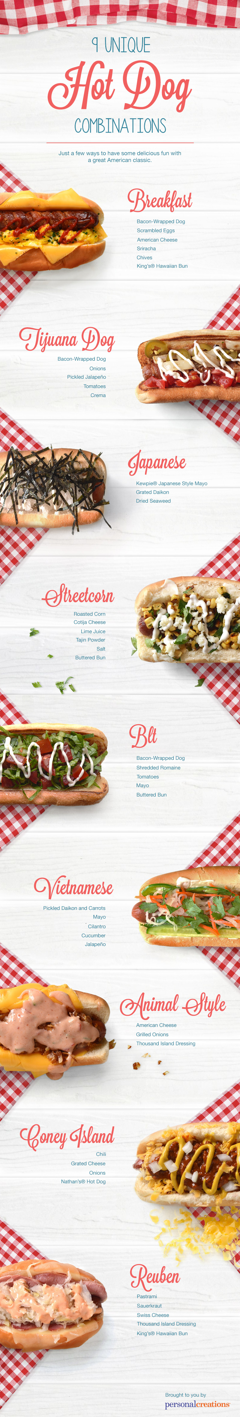 Unique Hot Dog Combinations