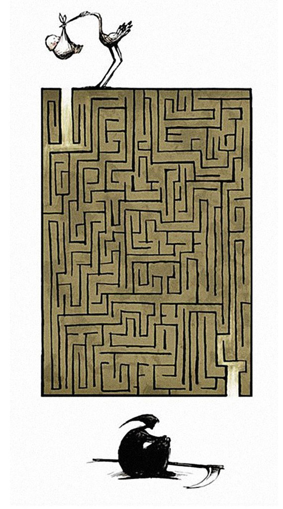 inspirational pics, maze of life
