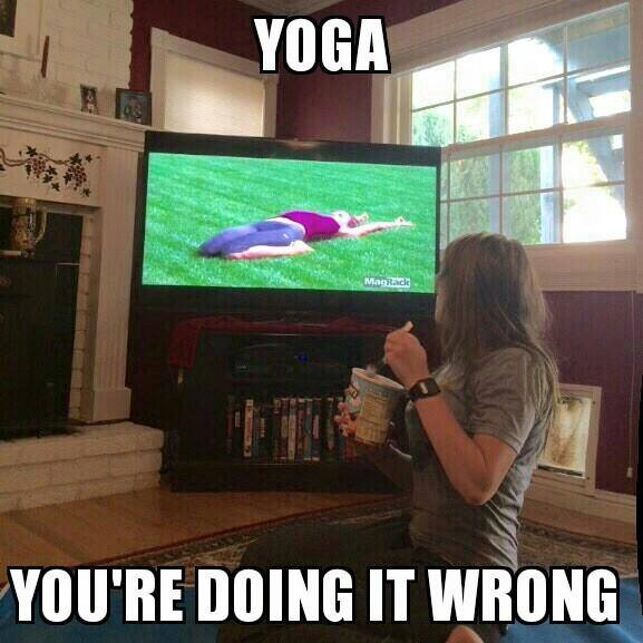 funny pics, lol pics, yoga humor, you are doing it wrong