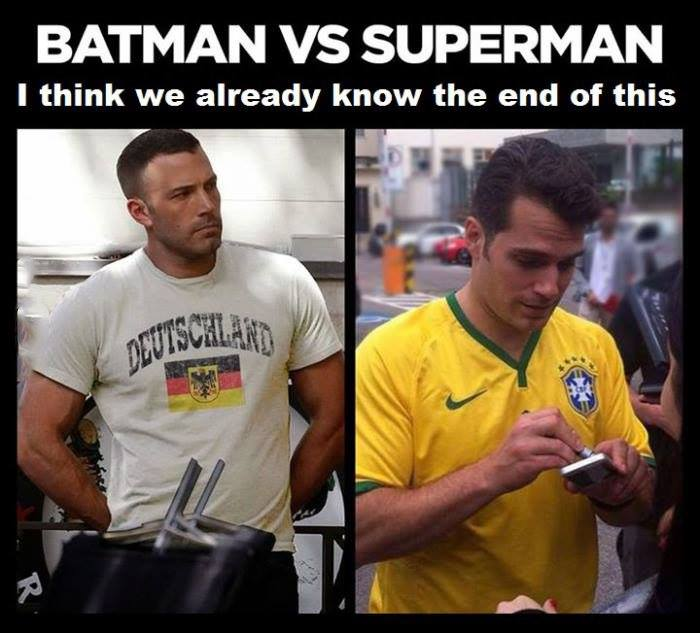funny pics, Batman vs Superman, germany vs brasi