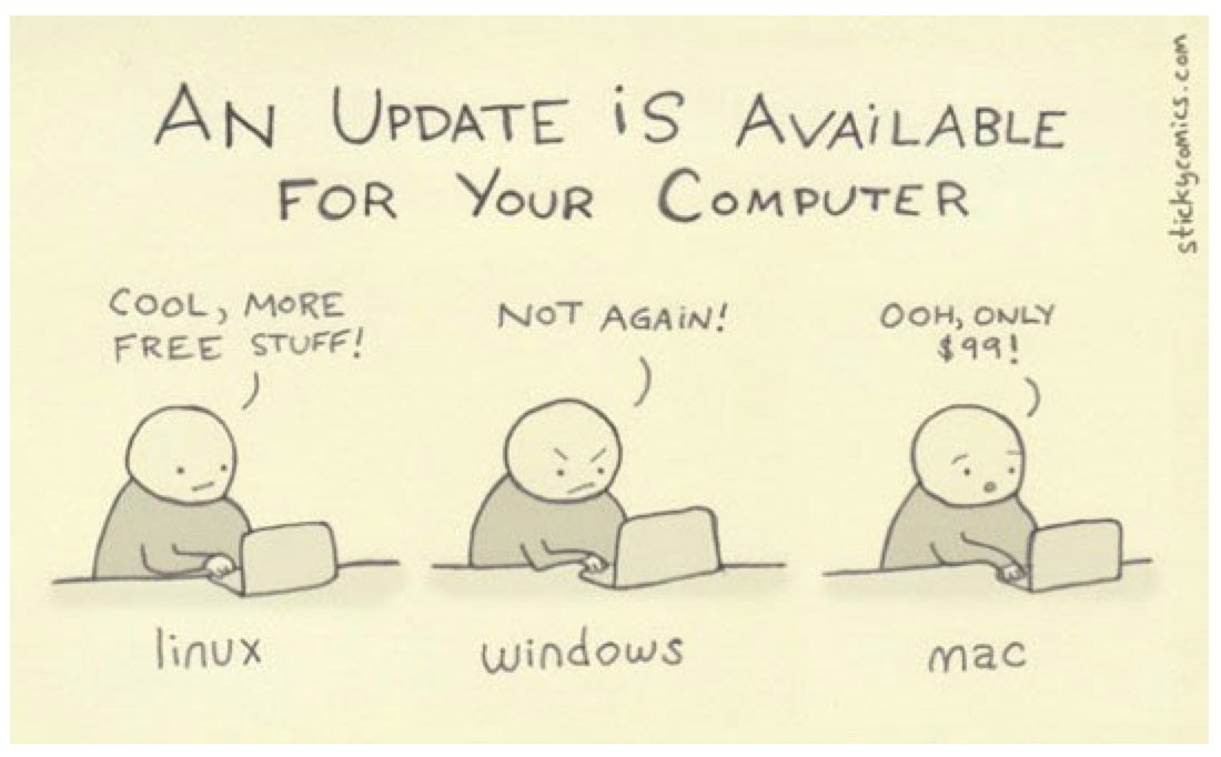 funny pics, update available, mac users, lol