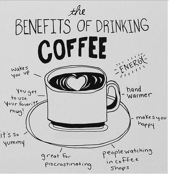 coffee, benefits of drinking