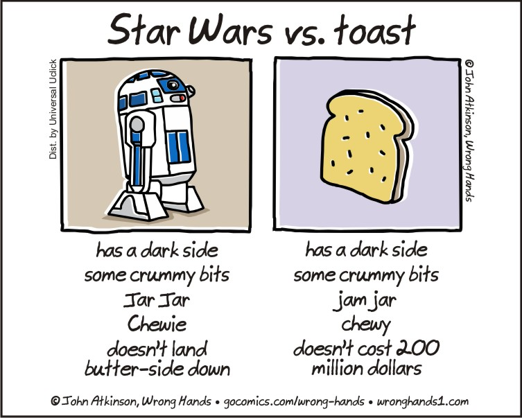 Star Wars vs. toast, funnypics, lol pics, star wars humor
