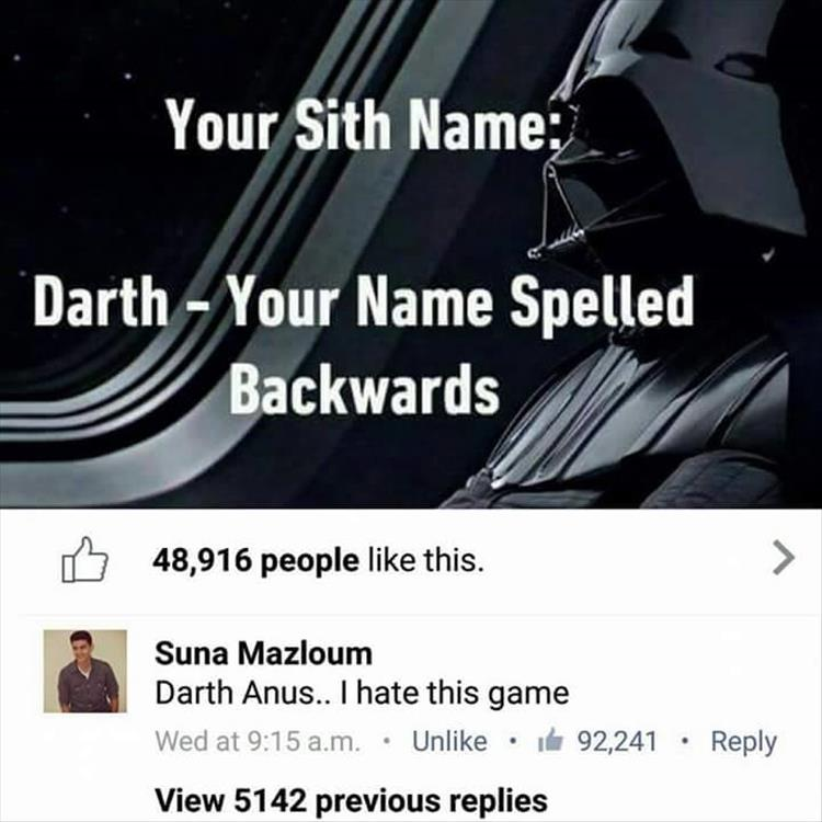 sith name, funny pics, lol pics, darth wader humor