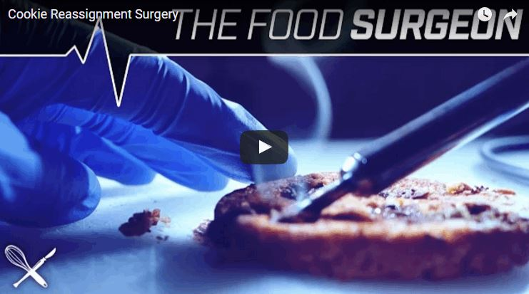 Food Surgeon Replaces Raisins With Chocolate Chips in a Cookie Surgery