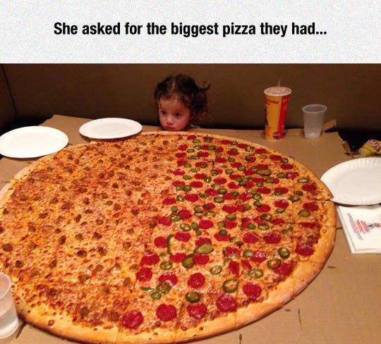 funny kids, pizza, huge pizza, lol