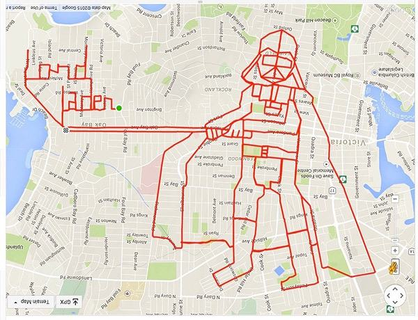 Biker Creates Giant GPS Doodles With His Bike Routes