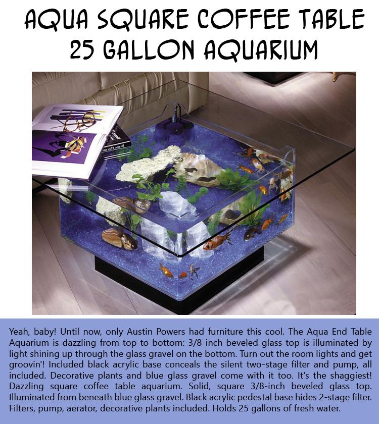 25 Gallon Aqua Coffee Table.Still Cracking Aqua Square Coffee Table 25 Gallon Aquarium Still