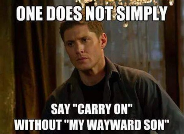 supernatural, carry on my wayward son, soundtrack, lol