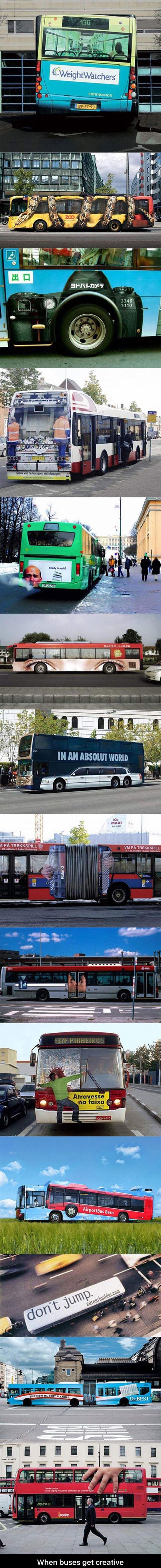 creative bus ads