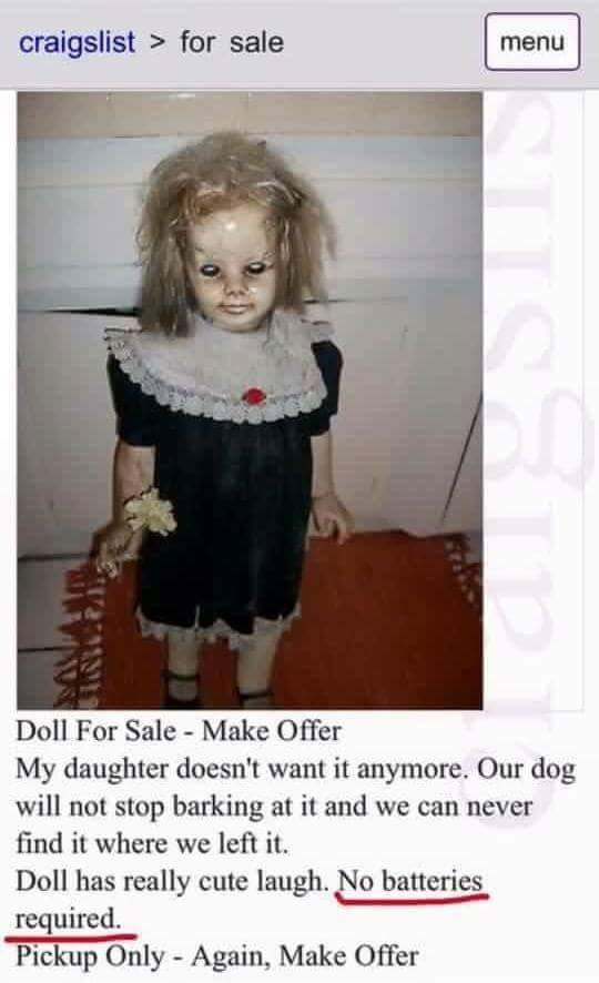 lol pics, creepy doll, funny ads